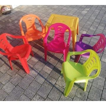Komplet Stolik + 5 krzesełek dziecięcych