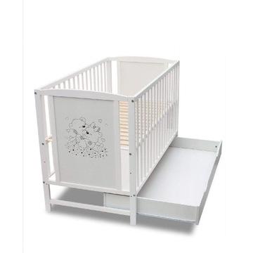Łóżeczko tapczanik niemowlęce z szufladą Bajka