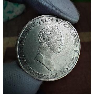 Królestwo Polskie - 5 złotych 1831 K.G. - Piękne