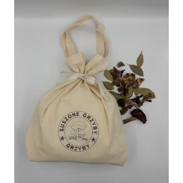 Worek ekologiczny torba na suszone grzyby haft