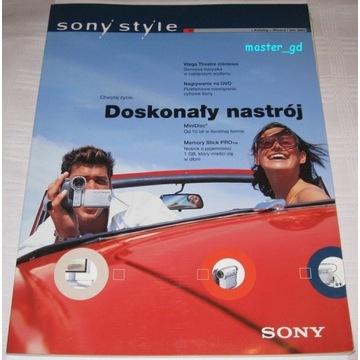 Zestaw katalogów retro Sony