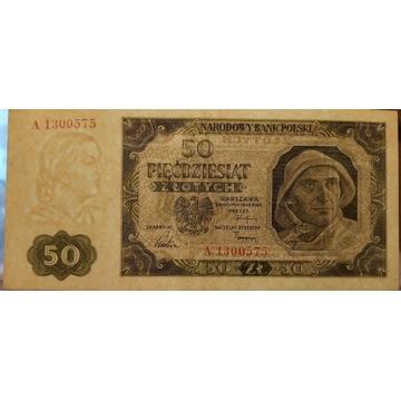 50 Złotych 1948 seria A