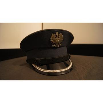 Czapka rogatywka służbową służby więziennej oficer