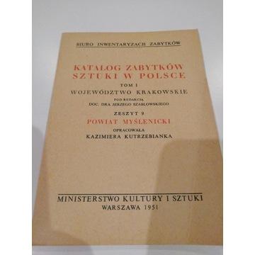 Katalog Zabytków Sztuki w Polsce p. myślenicki i