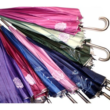 Parasol srebrny kolor 10 ramion włókno węglowe