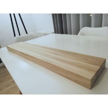 Półka wisząca drewniana dębowa 80x17x4cm