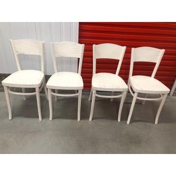Krzesła drewniane białe przecierane