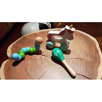 Drewniane zabawki dla niemowlaka