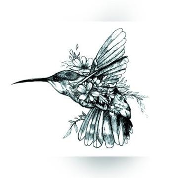 KOLIBER tatuaż tymczasowy zmywalny FAKE TATTOO