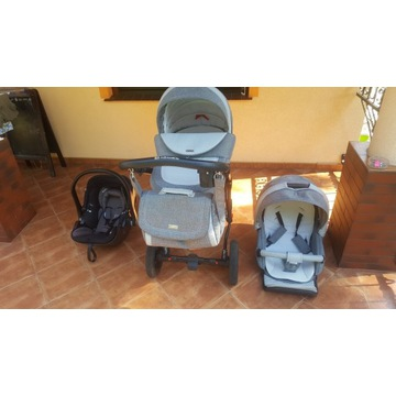 Wózek ADAMEX Barletta 2w1 + fotelik Kiddy Evolutio