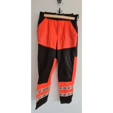 2 pary Spodnie ratownicze medyczne fluo roz. 5