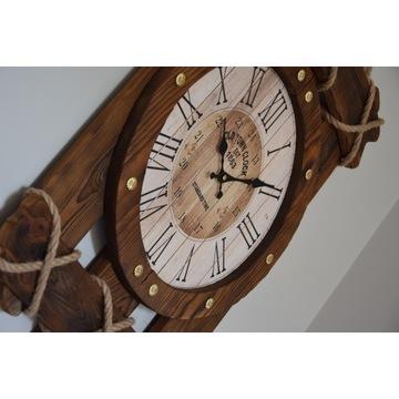zegar ścienny, drewniany