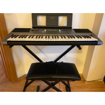 Keyboard Yamaha PSR E353+podstawa+siedzisko