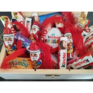 Prezent Mikołaj święta pudełko box upominek