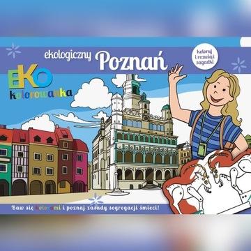 Ekologiczny Poznań - kolorowanki + zagadki.