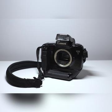 lustrzanka analogowa Canon EOS 5 +grip +bateria