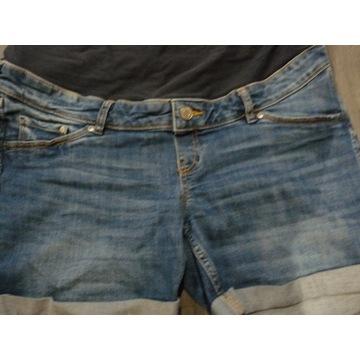 Spodenki ciążowe jeans bardzo wygodne H&M roz 44