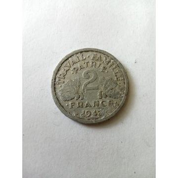 2 franki 1943 Francja