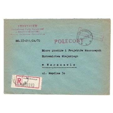 Golub Dobrzyń - Koperty polecone z lat 1965-76