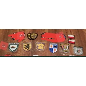 Naszywki wojskowe, nowe i przypinki różne