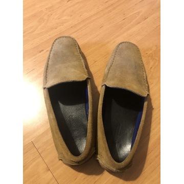 Brązowe buty skórzane mokasyny Kazar Studio roz.40