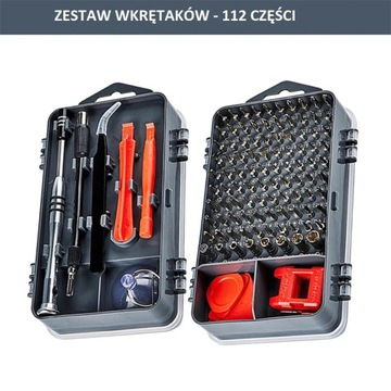 ZESTAW WKRĘTAKÓW BITÓW TORX 112el.