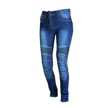 Spodnie jeansowe motocyklowe OZONE nowe S/XS
