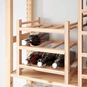 Drewniany stojak na wino. NOWY. 9 butelkowy. 2 szt