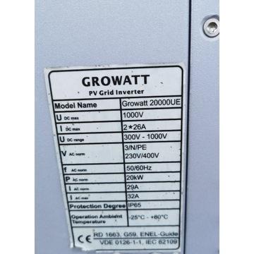 Inwerter fotowoltaiczny growatt 20000UE 20 kW 2MPP