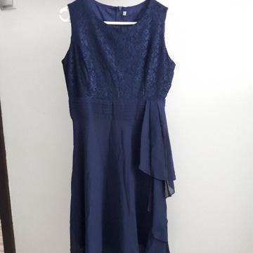 Granatowa elegancka sukienka rozm. M
