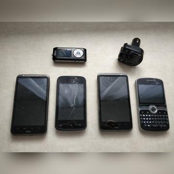 Zestaw telefonów HTC mp3 Kazam itd