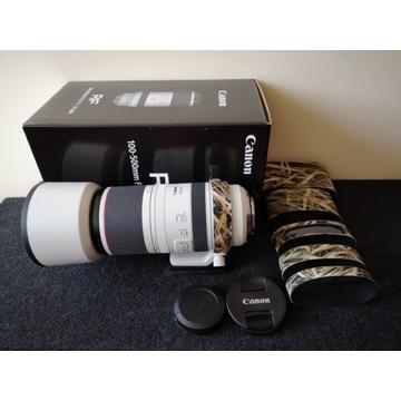 Canon 100-500 RF praktycznie nowy na gwarancji