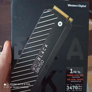 Dysk M2 SSD 1tb z radiatorem! WD BLACK SN750
