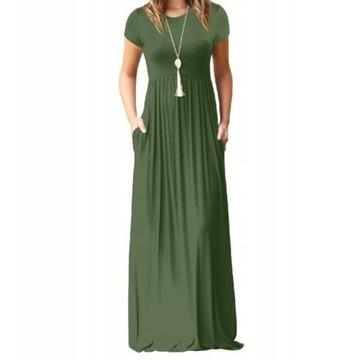Sukienka długa maxi z kieszeniami XL/XXL NOWA