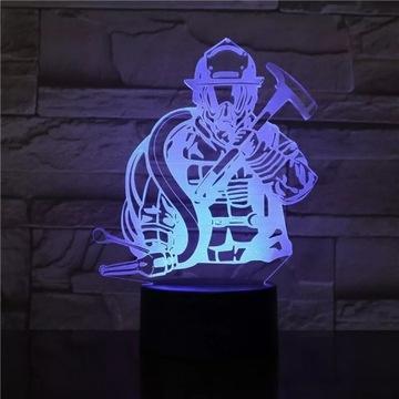 Lampka Led 3D strażak