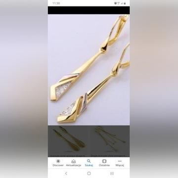 Złote kolczyki uszkodzone