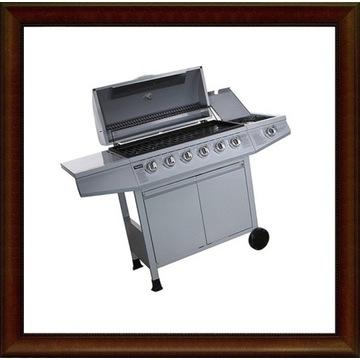 Nowy grill gazowy 6+1 palnikowy srebrny HG044