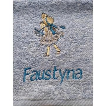 Ręcznik 30x50 z haftem imienia Faustyna upominek