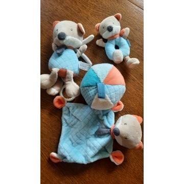 Babydream zestaw 4 szt miękkich zabawek lisek