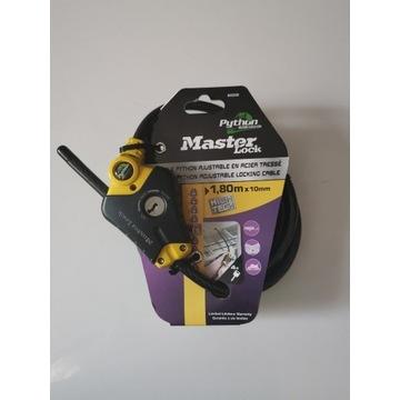 Zabezpieczenie Master Lock 10 mm linka poziom 6