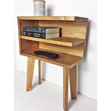 DREWNIANY stolik, szafka nocna, półka, komoda