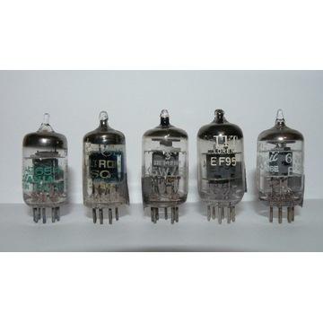lampy 6AK5 (5654 EF95) zachodnie NOS różne