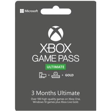 Xbox game pass ultimate Gold 3 m-ce kod zdrapka