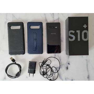 Samsung Galaxy S10+ plus, 128GB, CZARNY, 2xEtui