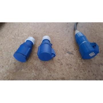 Gniazdo 32A 230V  3 pin 2P+Z IP44 na kabel