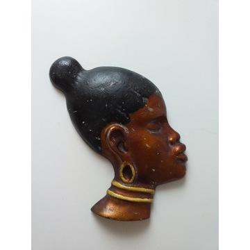 Afrykańskie maski, płaskorzeźby, totemy 2 szt.