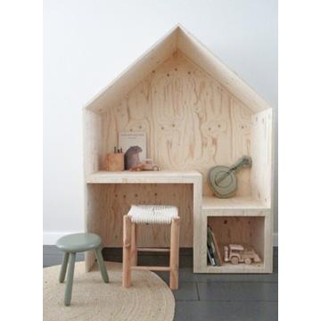 Biurko domek dla dzieci drewno