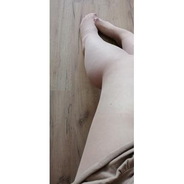 rajstopy cieliste noszone używane fetysz stóp
