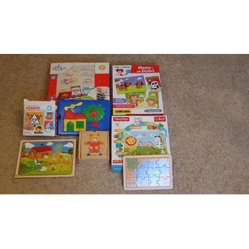 Zestaw markowych układanek i puzzli dla dzieci