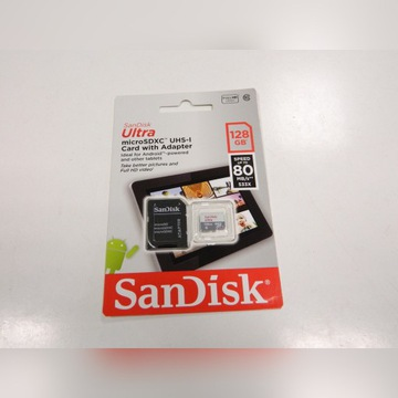 KARTA PAMIĘCI MICRO SD SANDISK ULTRA UHS-1 128GB
